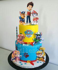 Resultado de imagem para bolo patrulha pata