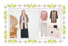 New outfit Spring 2018.  Jacquard eclectic Coat, 100% linen t-shirt