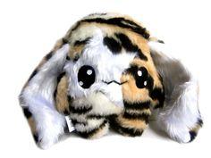 Monster & Tiere - Fluse Kawaii Plush Tiger Hase - ein Designerstück von Fluse-123 bei DaWanda