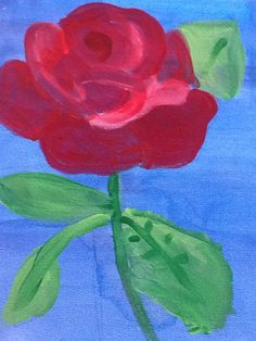 Rose acrylic on canvas