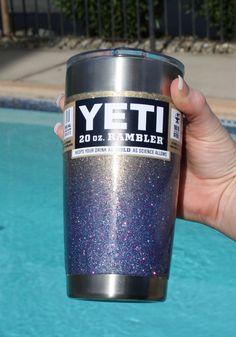 Yeti Glitter Yeti Rambler Yeti Tumbler Yeti by BeeDoodleCreations