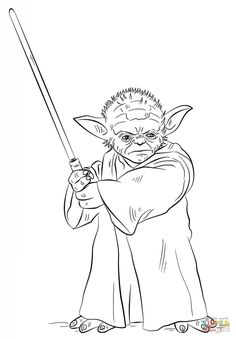 Angry Birds Star Wars Coloring Pages Yoda Lego 3