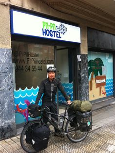 Masanori Nishikawa in Pil Pil Hostel! In his 7th month of world tour. #bilbao #hostel #pilpil #www.pilpilhostel.com www.pilpilhostel.com