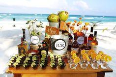 Bar de boda en playa