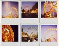 ferris wheel polaroid collage