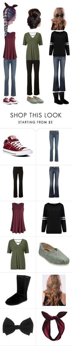 """""""Untitled #10"""" by ross-jessica ❤ liked on Polyvore featuring Converse, rag & bone, Paige Denim, 7 For All Mankind, Miss Selfridge, TOMS, WithChic, Lulu in the Sky, denimtrend and widelegjeans"""