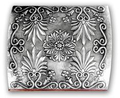 FLORAL CHEST 2 - COVER.    Embossed chest with with floral motives (classical greek)  30 x 22 x 20 cm.    See Complete Here: [link]