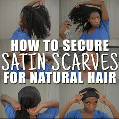 How to keep satin scarves for natural hair from slipping off