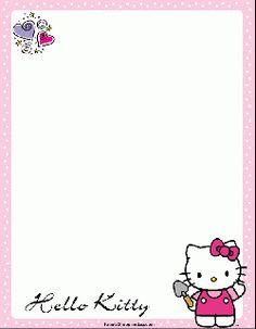 Hello Kitty Gardening, Stationery, Stationery - Free Printable Ideas from Family Shoppingbag.com