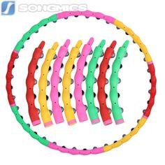 Hula-Hoop-Fitness-Reifen-Abnehmen-Gymnastik-Massagenoppen-98cm-1-2kg-SHH008