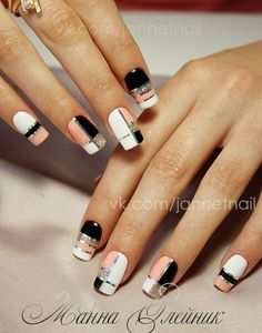 NagelDesign Elegant ( I want plaid nails – pint… ) – NagelDesign Elegant ♥ Square Nail Designs, Elegant Nail Designs, Creative Nail Designs, Elegant Nails, Classy Nails, Stylish Nails, Trendy Nails, Nail Art Designs, Plaid Nail Designs