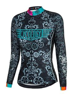 Lucky Chain Ring Womens Long Sleeve Cycling Jersey  291e65951