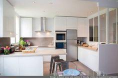 miniature Epure et Design pour une cuisine verrière à Neuilly, Neuilly-sur-Seine, Laurence Garrisson - décorateur d'intérieur