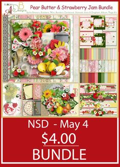 National Scrapbook Day deals are here for 2017.  Nothing like $4 deals to get your scrapbook mojo on.