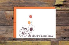Bicycle Happy Birthday Greeting Card