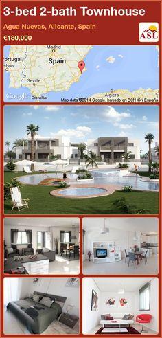 3-bed 2-bath Townhouse in Agua Nuevas, Alicante, Spain ►€180,000 #PropertyForSaleInSpain