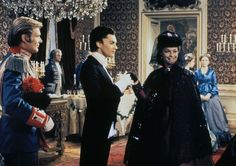 "h. griem, h. berger and romy schneider in""ludwig"" by visconti ,"