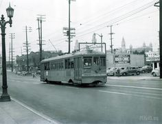 Los Angeles Railway Archives - Page 50 of 64 - Pacific Electric Railway Historical Society Cities In Los Angeles, Vintage Trains, San Bernardino County, Streamline Moderne, Riverside County, California History, Los Angeles County, Urban Landscape, Historical Society