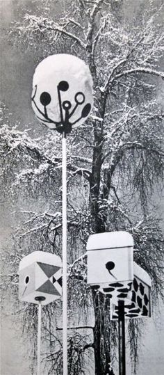 Herbert Bayer. Bauhaus.  Bird Houses  1953