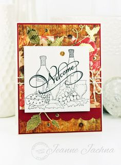 A Kept Life: Serendipity Stamps May Blog Hop and Challenge Reminder #card #stamp #stamping #die #prettypinkposh #border #stitched #papercrafting #wine #welcome