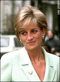"February 14, 1997: Diana, Princess of Wales for ""Gold Heart Day"" during her visit to Great Ormond Street Hospital for Children to open a new Renal Unit."