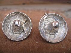 Vintage Sterling Silver Sombrero Cufflinks by TreeTownPaper, $36.00