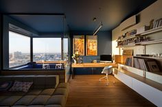 Aleksey Venediktov, a designer and architect from SPECIAL PROJECT VENEDIKTOV, has reorganized the space of an apartment inside a high-rise residential building to create a new home for a young family of three. The apartment is situated on the 30th floor of one of the highest buildings in Kyiv. The apartment's panoramic windows open a …