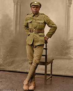 Pride of Britain: The identities of the hundreds of Great War troops, including this soldier of the British West Indies Regiment, are yet to be uncovered