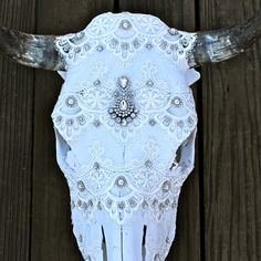 ✧ F E M M E details on our cowskulls www.childofwild.com ✧ #childofwild #cowskulls #originalart