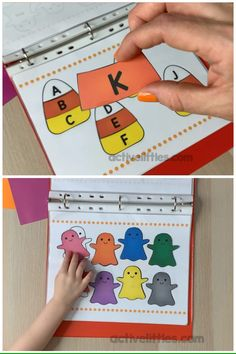 Have some learning fun for preschool and kindergarten with this interactive learning book printable! It is filled with the basic early learning skills for children and it's free! videos Halloween Interactive Book Printable for Kids Kindergarten Learning, Preschool Learning Activities, Interactive Activities, Preschool Classroom, Preschool Worksheets, Early Learning, Fun Learning, Preschool Activities, Learning Skills