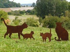 Rusty Finish Metal Goat Silhouette Garden Art Yard Stake | Garden ...