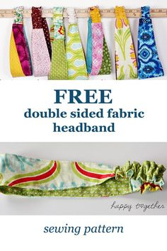 FREE double sided fabric headband sewing pattern - Sew Modern Kids - Diy and crafts interests Beginner Sewing Patterns, Sewing Patterns For Kids, Sewing Projects For Beginners, Sewing For Kids, Free Sewing, Sewing Tutorials, Sewing Crafts, Knitting Patterns, Modern Sewing Projects