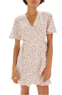 Main Image - Topshop Daisy Ruffle Wrap Tea Dress