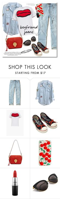 """""""Get the look boyfriend jeans"""" by vkmd ❤ liked on Polyvore featuring Hollister Co., Rails, Sonia Rykiel, Norma Kamali, Chloé, Skinnydip, MAC Cosmetics, Alor and boyfriendjeans"""