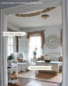 farmhouse living room details