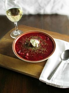 Traditional Ukrainian Red Borscht Soup Gringalicious Just veganize the sour cream Beet Borscht, Beet Soup, Soup And Salad, Soup Recipes, Vegetarian Recipes, Cooking Recipes, Healthy Recipes, Healthy Food, Ukrainian Recipes