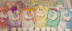 A rainbow of Fluppy Dogs 1980's toys