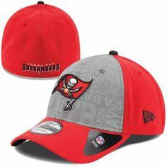 270413f16f4 Mens New Era Red Tampa Bay Buccaneers 2014 NFL Draft 39THIRTY Flex Hat 2014  Nfl Draft