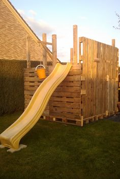 Next spring - keep an eye out for free pallets!  The Pallet Playhouse