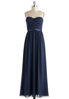 Receiving Line Dress in Navy. After greeting your gracious guests with open arms, you cant wait to dance the evening away in your elegant navy-blue gown! These will be the Bridesmaid dresses Bridesmaid Dresses Under 100, Affordable Bridesmaid Dresses, Unique Dresses, Pretty Dresses, Beautiful Dresses, Navy Bridesmaids, Long Dresses, Prom Dresses, Bridesmaid Gowns