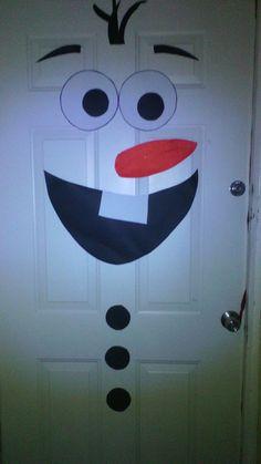 Decoration, Snowman, Disney Characters, Christmas, Art, Christmas Ornaments, Puertas, Decor, Xmas