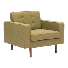 Puget Arm Chair Green Toon Wood