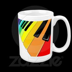 #Keyboard #Music #Party #Rainbow #Colors #Mugs © #Bluedarkat - on #Zazzle!