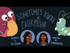 Sometimes You're A Caterpillar Kat Blaque and Chescaleigh, 2015 A non-confrontational explanation of privilege with adorable art and funny narration. Youtube Stars, School Counselor, Cute Gif, Ted Talks, Social Issues, Oppression, Caterpillar, Social Justice, Diversity