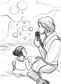 Showing her father around her homeworld of Alderaan (in a perfect galaxy).