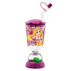 Rapunzel Snow Globe Tumbler with Straw, freaking awesome ..my daughter is obsessed!