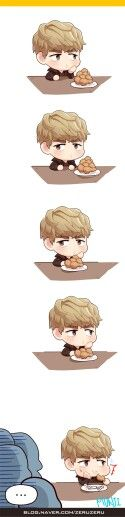 Kris: chicken isn't my style (cr: munji) - fanart