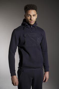 The 'BREEZE' Hood - £50 - http://www.voijeans.com/blackout/breeze-sweat-black-iris.html