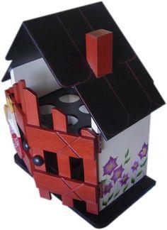 Casita de huevos Wood Crafts, Diy And Crafts, Ideas Para, Toy Chest, Decoupage, Decorative Boxes, Design, Home Decor, Cement Art