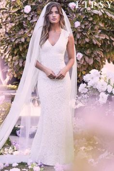 Buy Lipsy Bridal Anabella All Over Lace Open Back Maxi Dress from the Next UK online shop